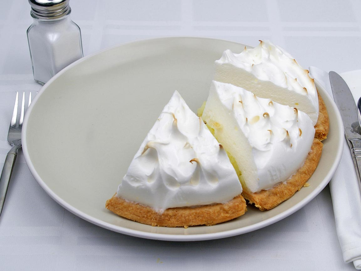 Calories in 3 piece(s) of Lemon Meringue Pie - Sugar Free