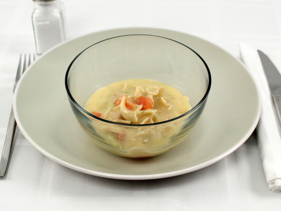 Calories in 1 cup(s) of Light Creamy Chicken Noodle Soup
