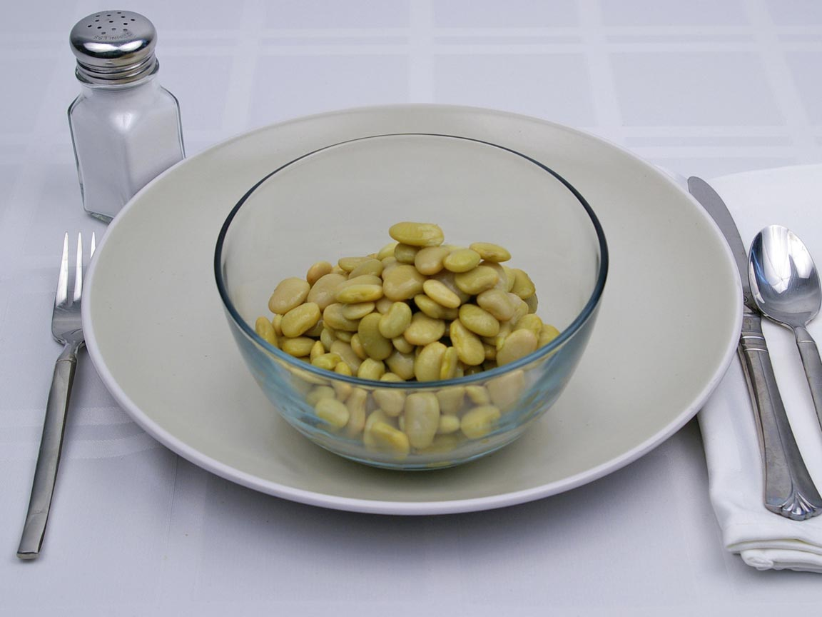 Calories in 1.5 cup(s) of Lima Beans - Canned