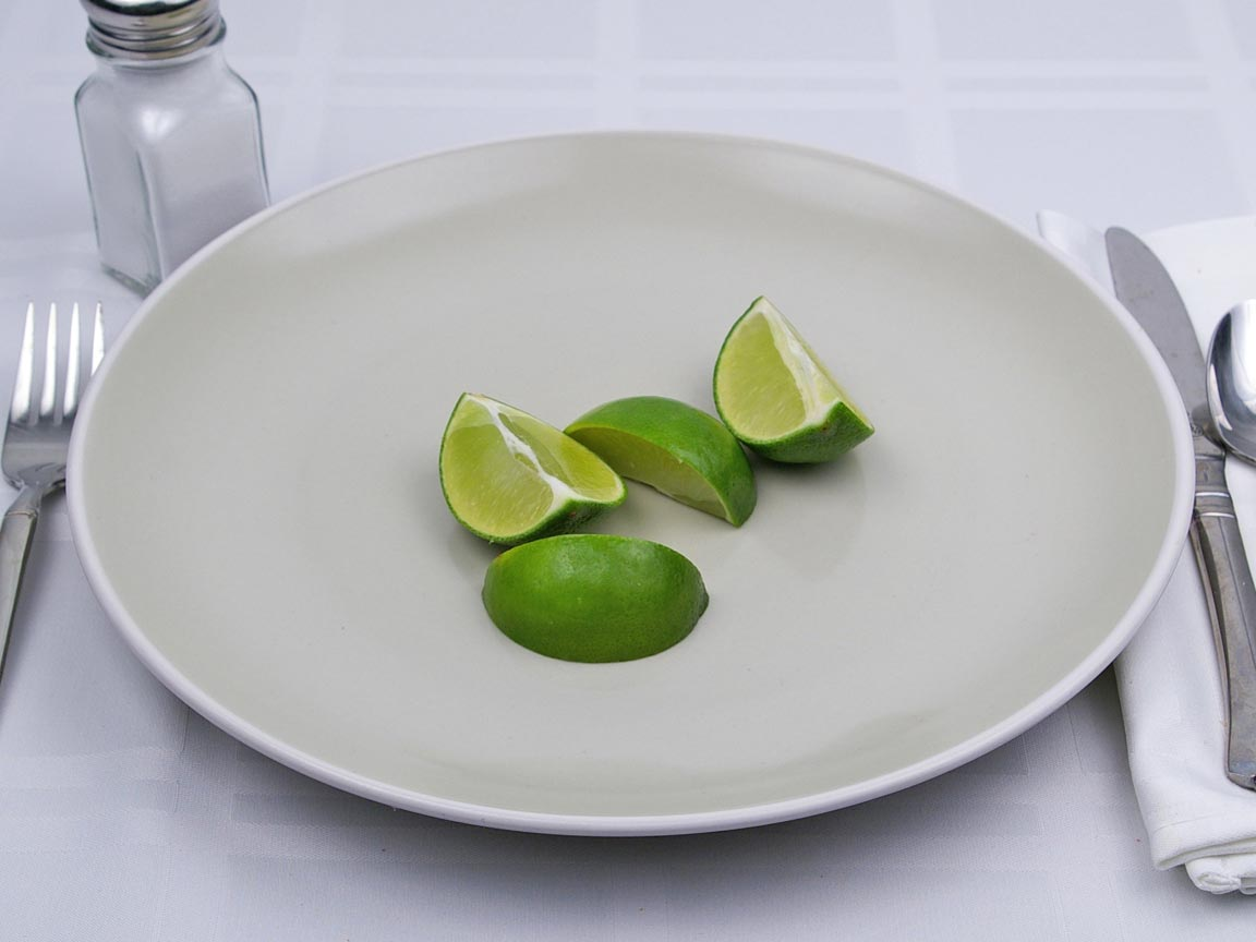 Calories in 1 fruit(s) of Lime