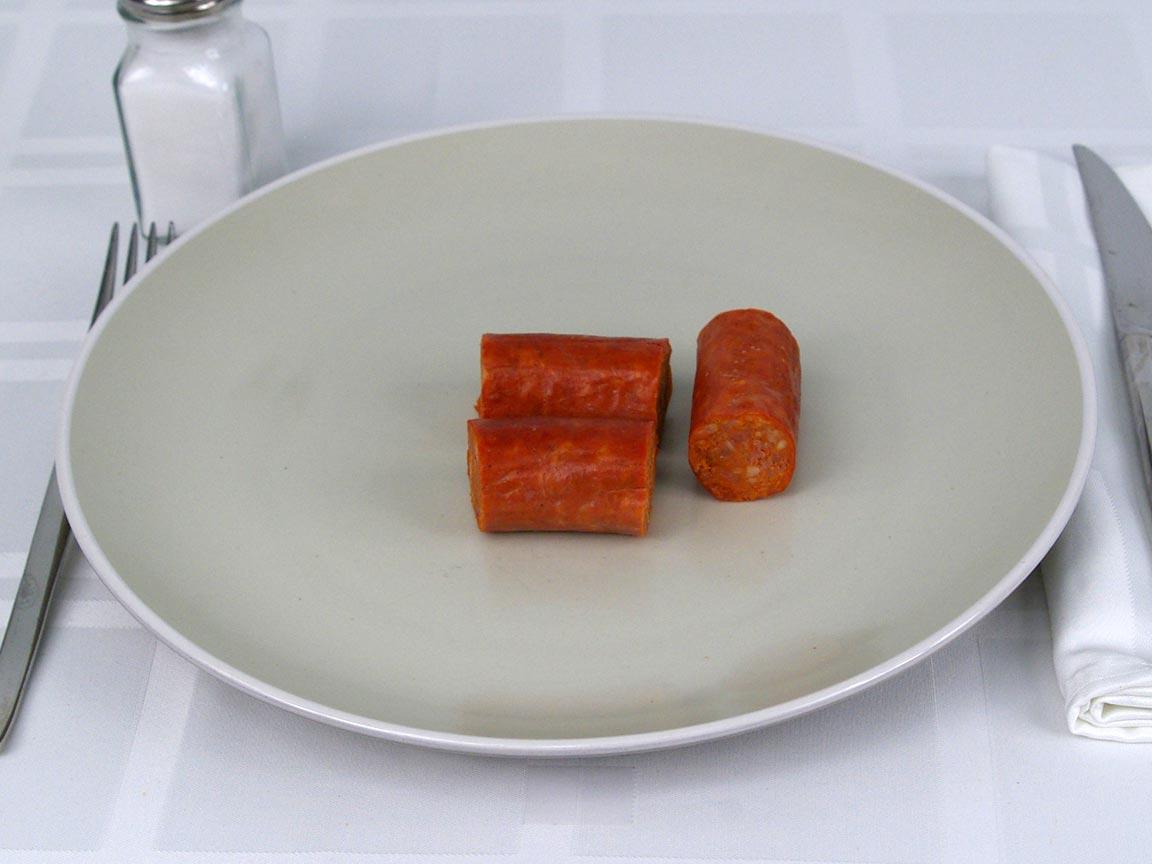 Calories in 85 grams of Linguica Sausage