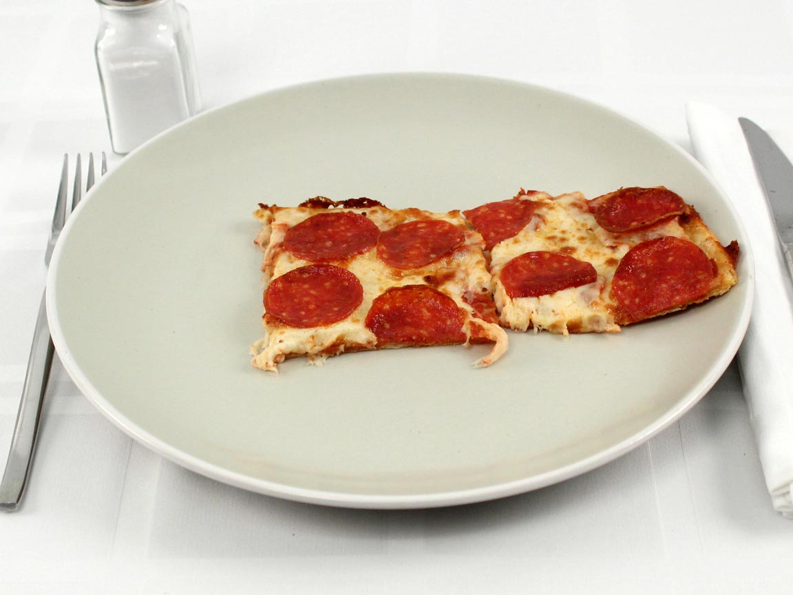Calories in 2 piece(s) of Little Caesars Thin Crust Pepperoni Pizza