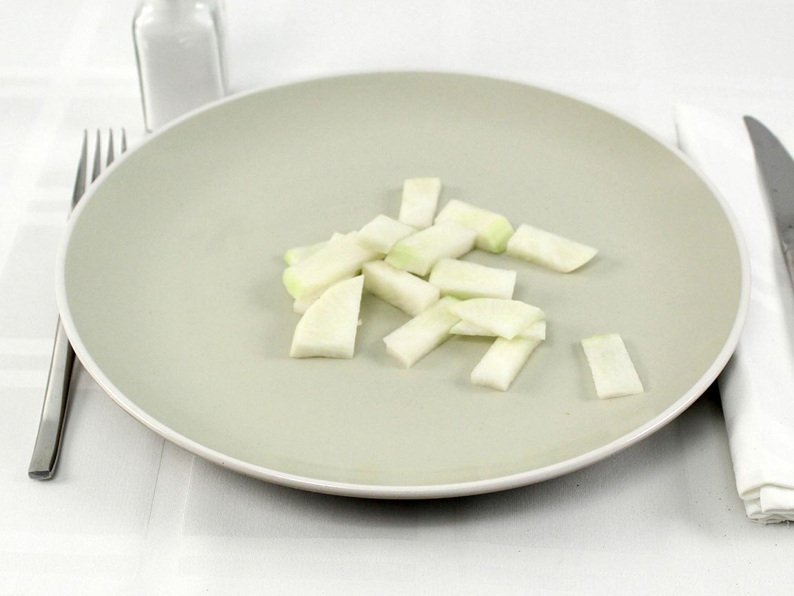 Calories in 60 grams of Lobok Radish - raw