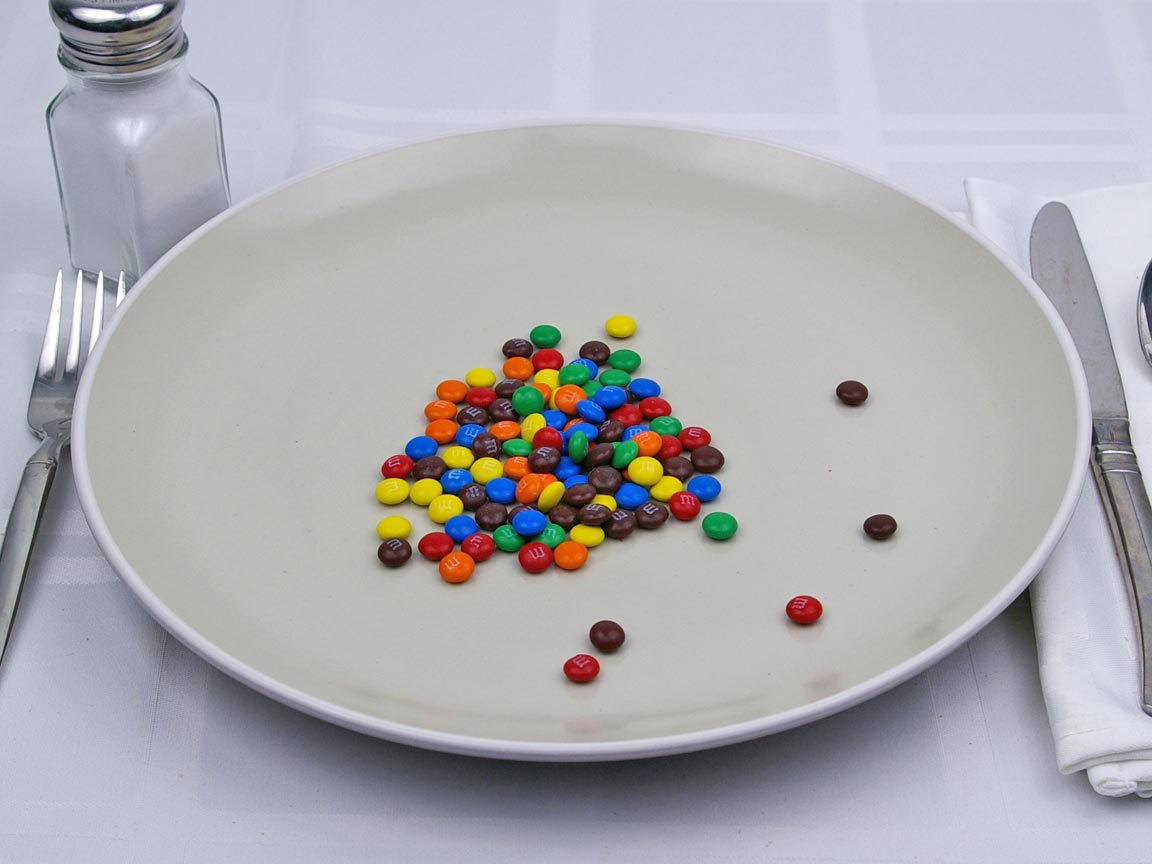 Calories in 27 grams of M & M Mini's