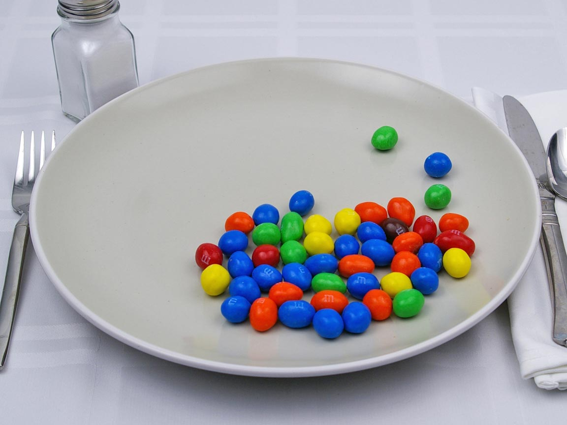 Calories in 160 grams of M & M's Peanut