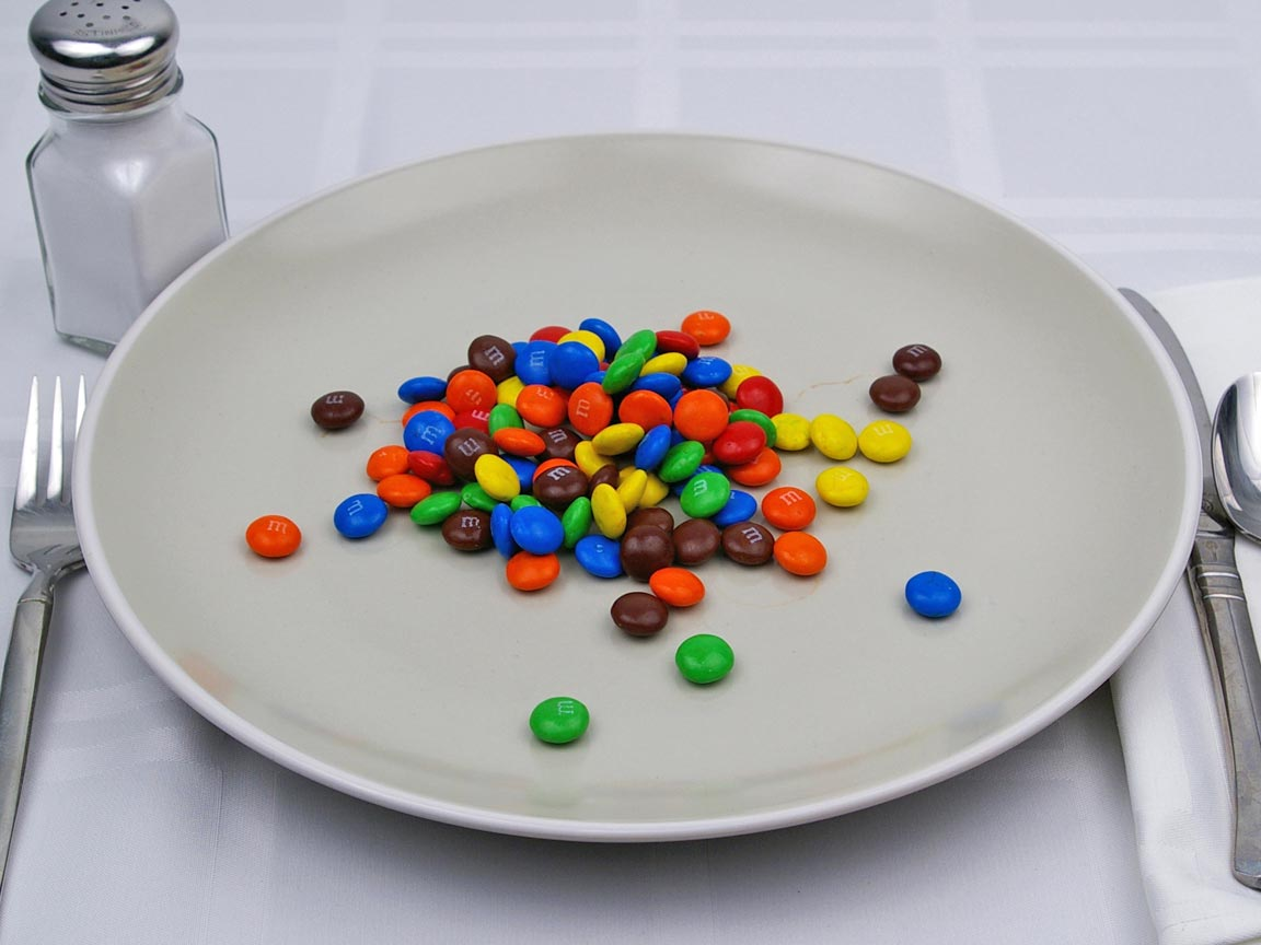 Calories in 3.55 package(s) of M & M's Plain