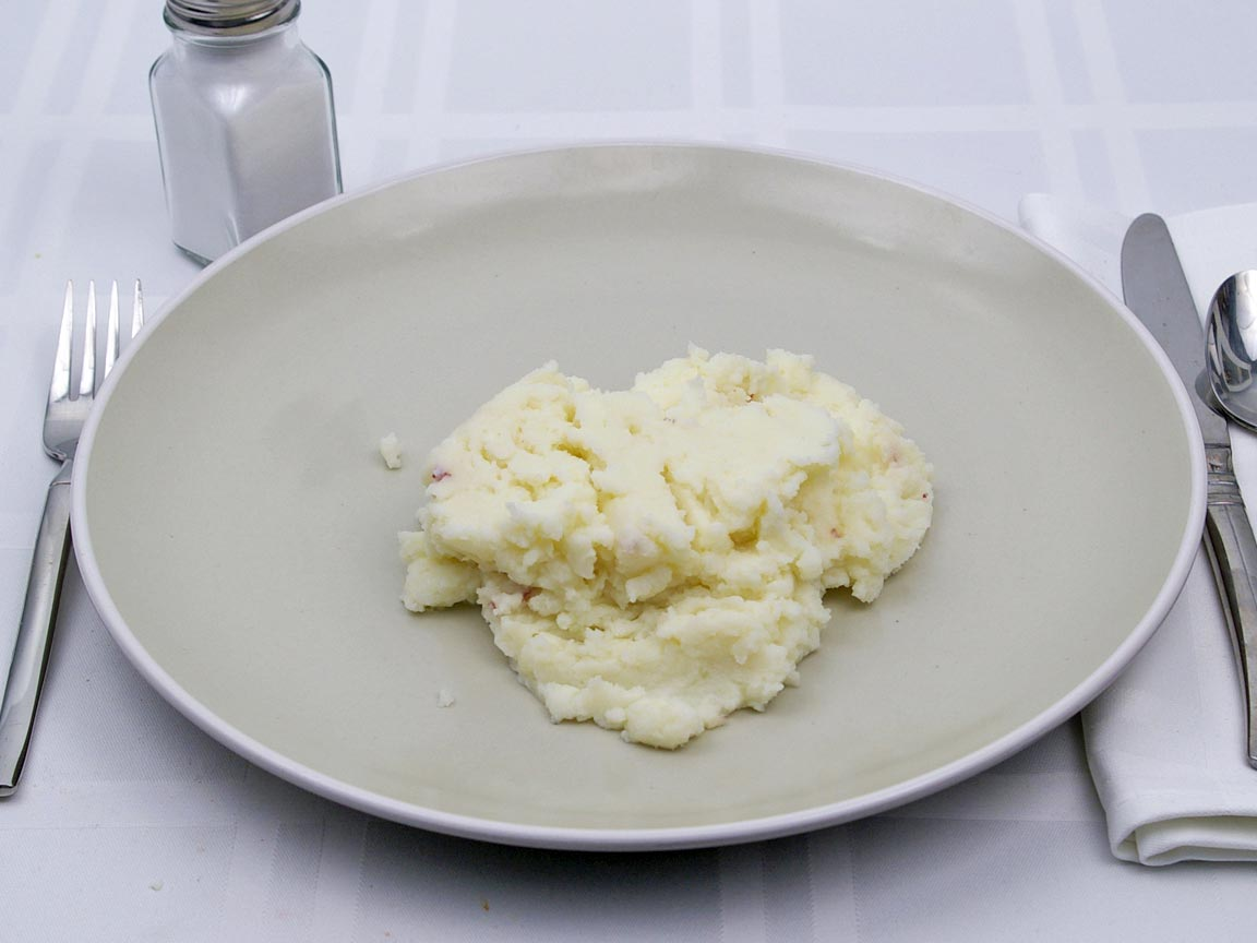 Calories in 1 cup(s) of Mashed Potatoes - Whole Milk - Butter