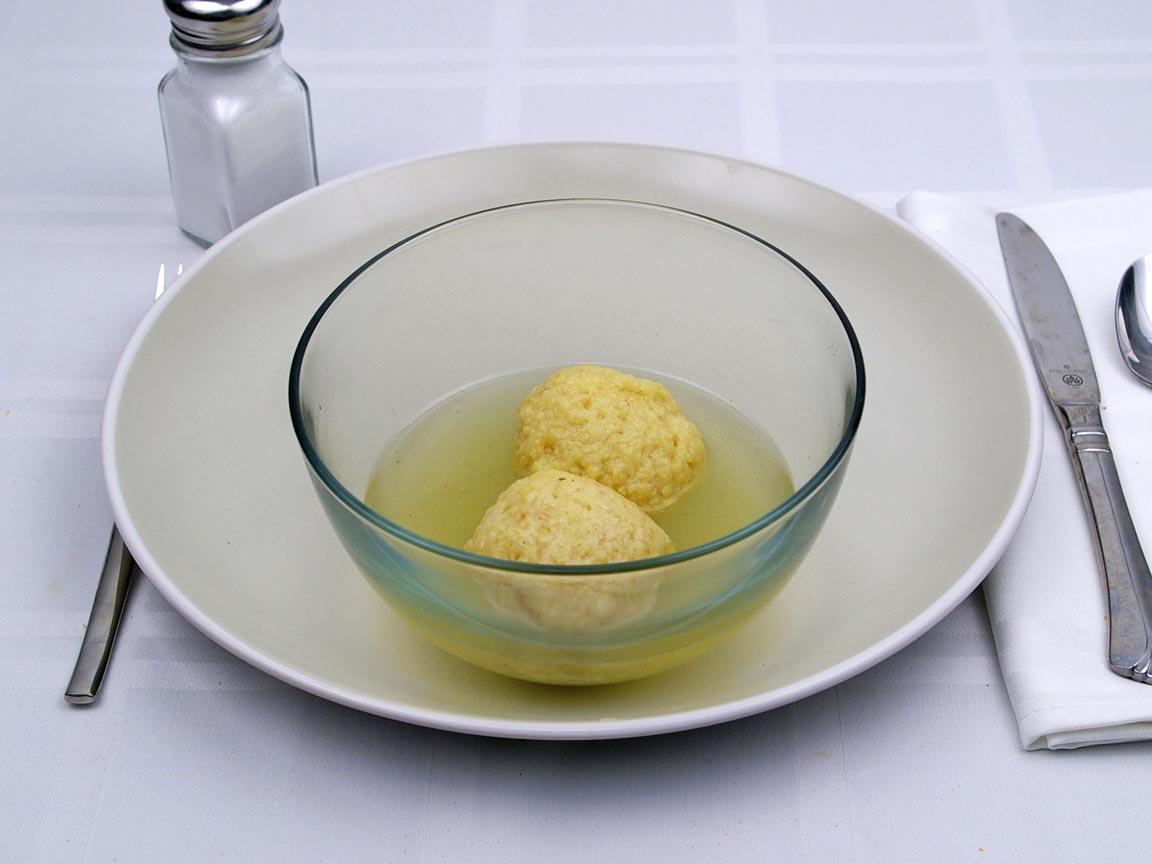 Calories in 2 matzo ball(s) of Matzo Ball Soup