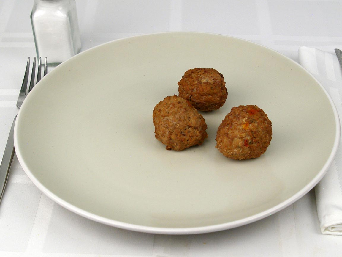 Calories in 3 meatball(s) of Italian Style Meatballs - Beef
