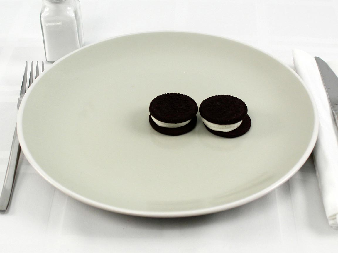 Calories in 2 cookie(s) of Mega Stuffed Oreos