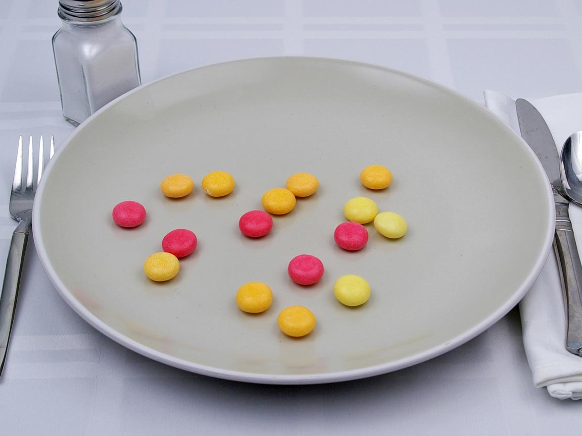 Calories in 16 piece(s) of Mentos Fruits