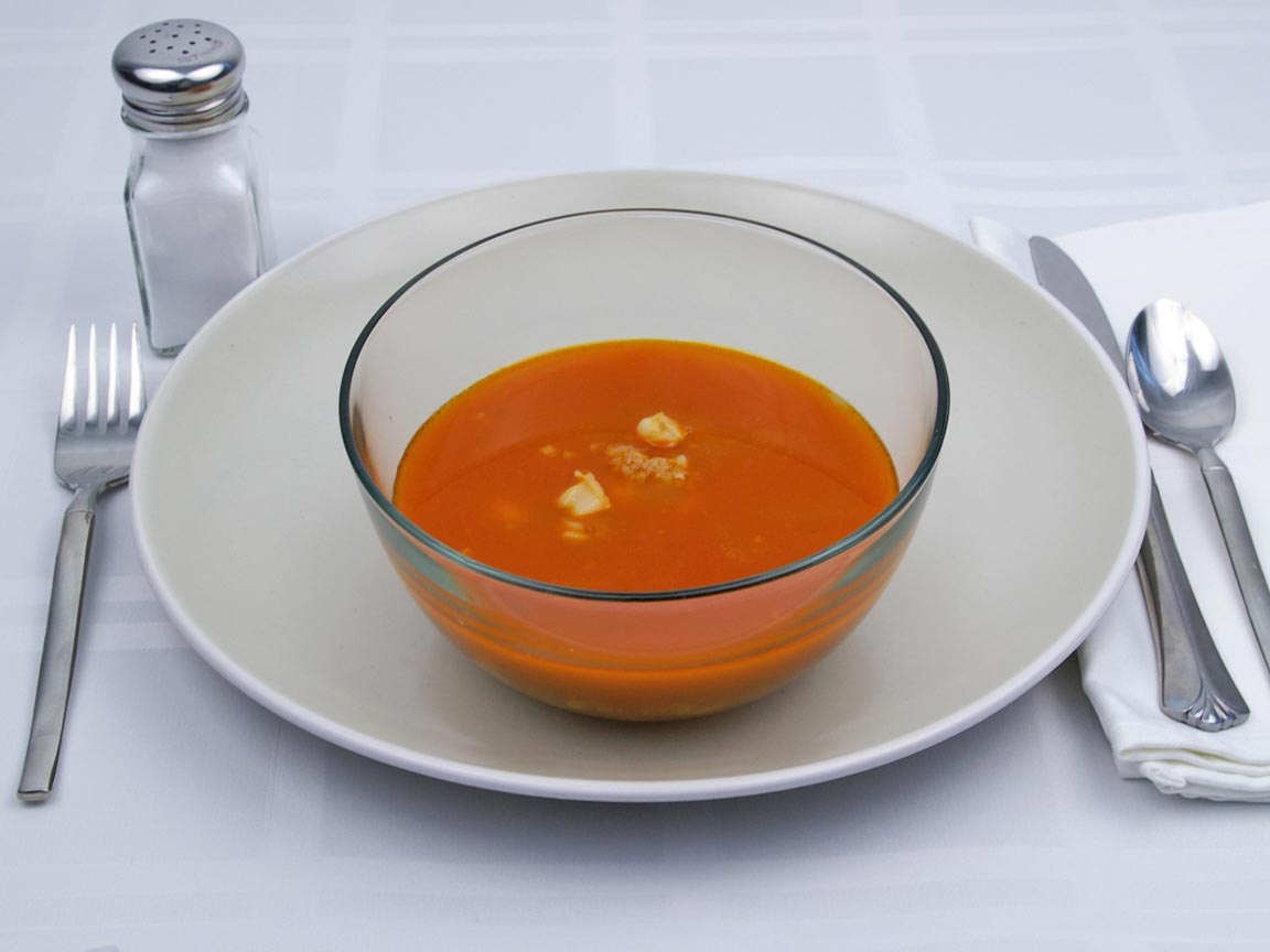 Calories in 1.5 cup(s) of Menudo Soup