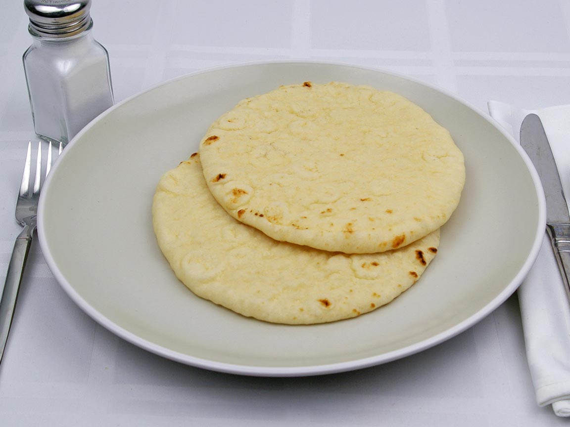Calories in 2 piece(s) of Middle Eastern Flatbread