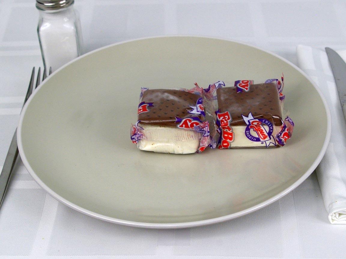Calories in 2 ea(s) of Ice Cream Sandwich - Mini