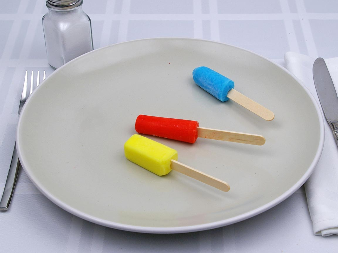 Calories in 3 popsicle(s) of Mini Popsicle