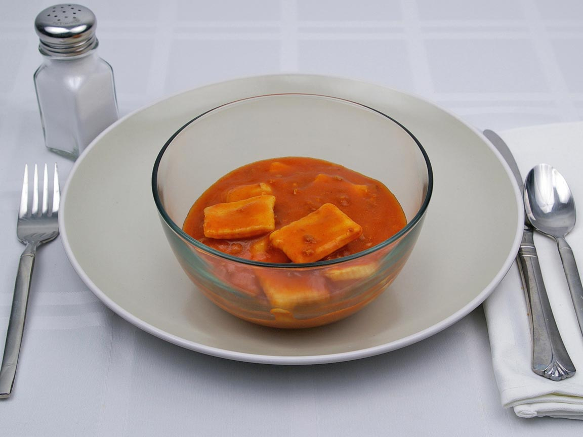 Calories in 1.5 cup(s) of Ravioli Mini