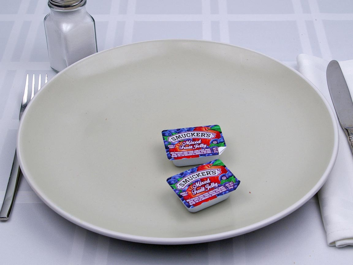 Calories in 2 packet(s) of Jelly -  Packet