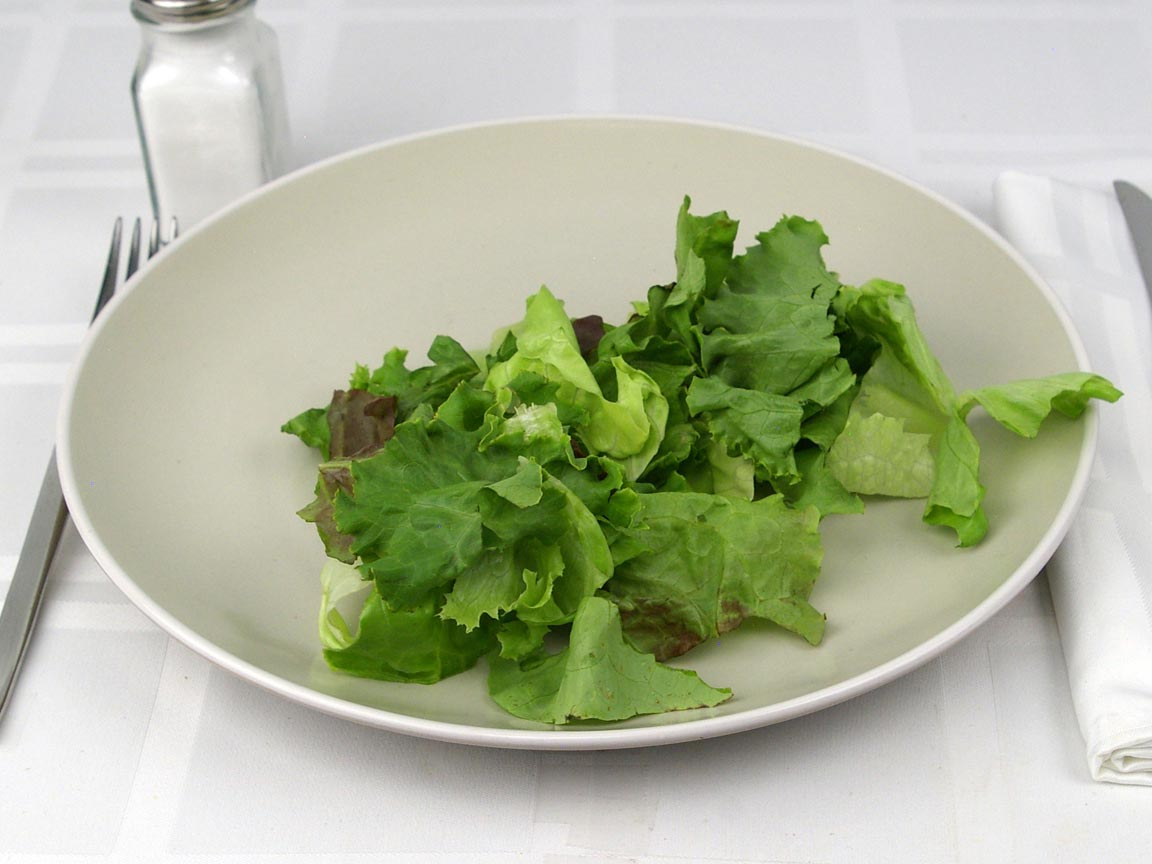 Calories in 30 grams of Mixed Leaf Lettuce