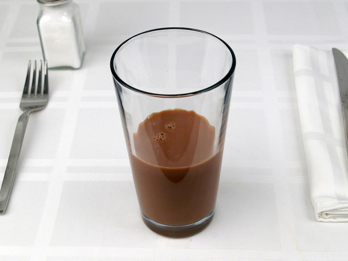 Calories in 0.75 short of Starbucks Mocha Latte Nonfat - Short/Tall