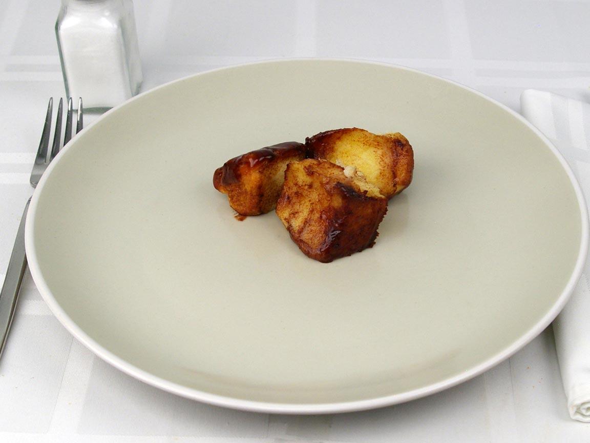 Calories in 3 piece(s) of Monkey Bread Cinnamon