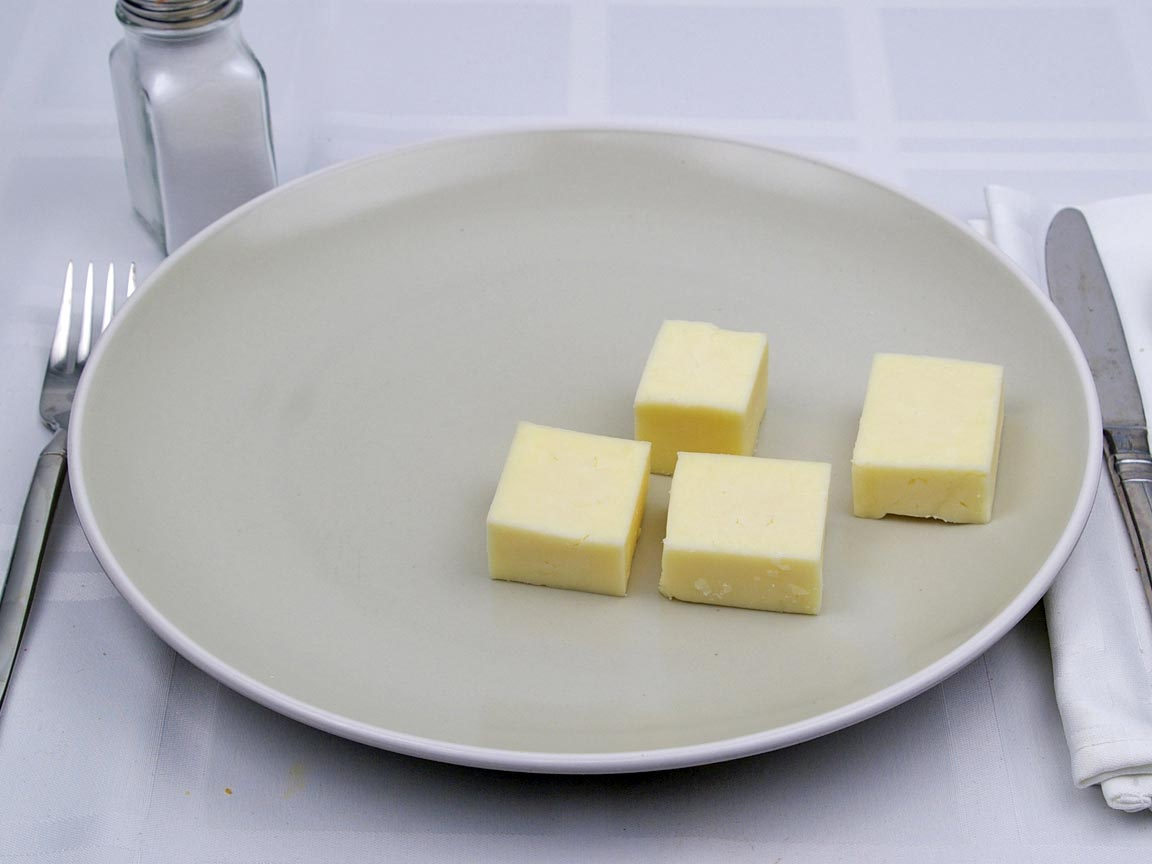 Calories in 113 grams of Monterey Jack Cheese