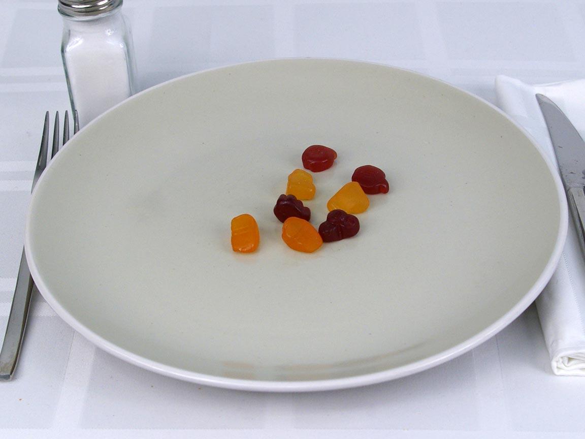 Calories in 1 ea(s) of Motts Fruit Snacks