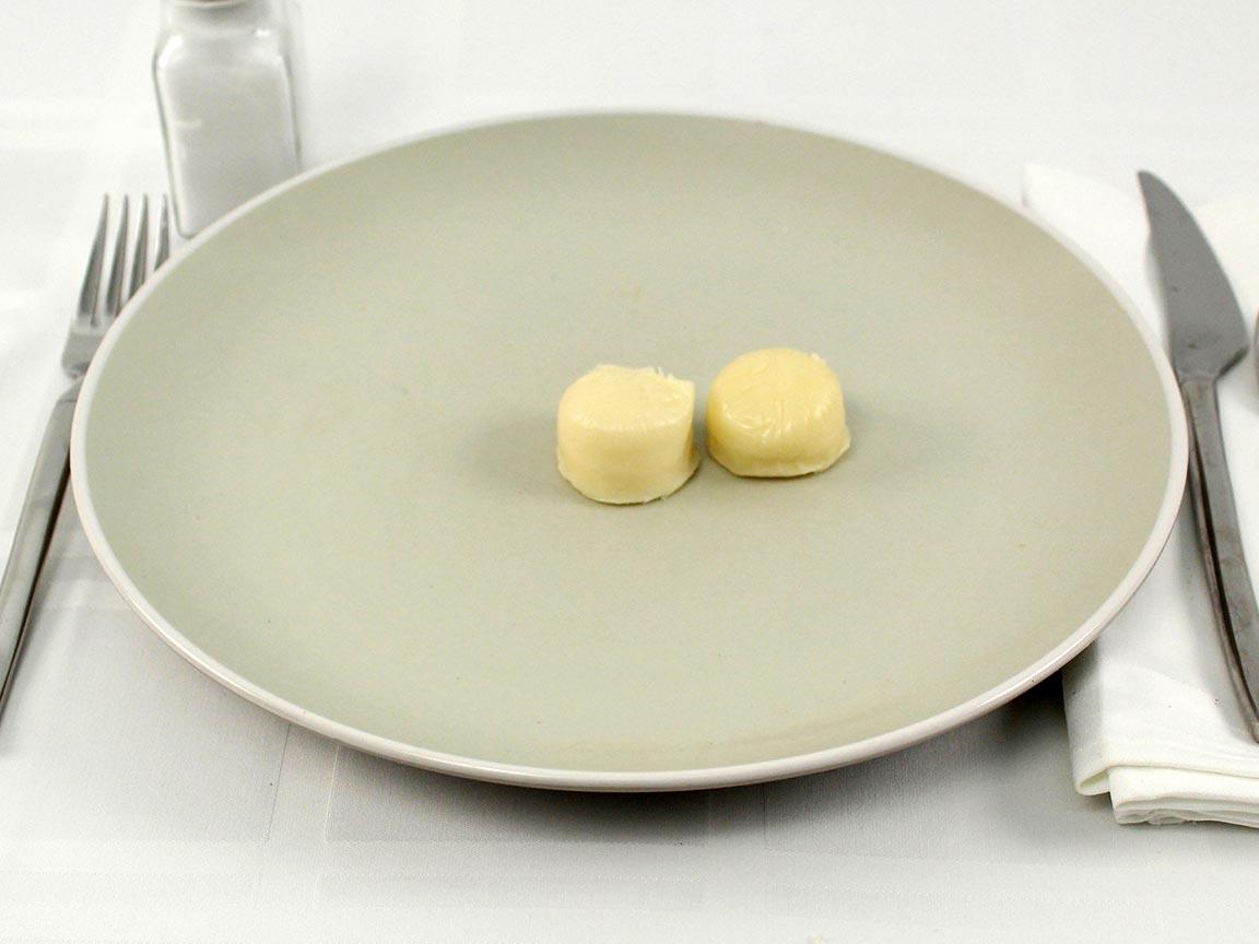 Calories in 2 snack(s) of Mozzarella Snack Cheese