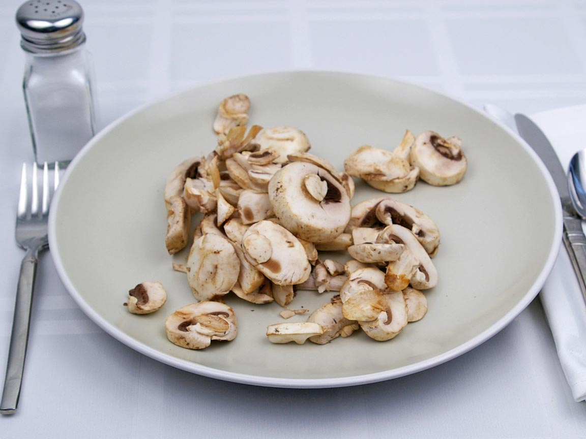 Calories in 113 grams of White - Button - Mushrooms
