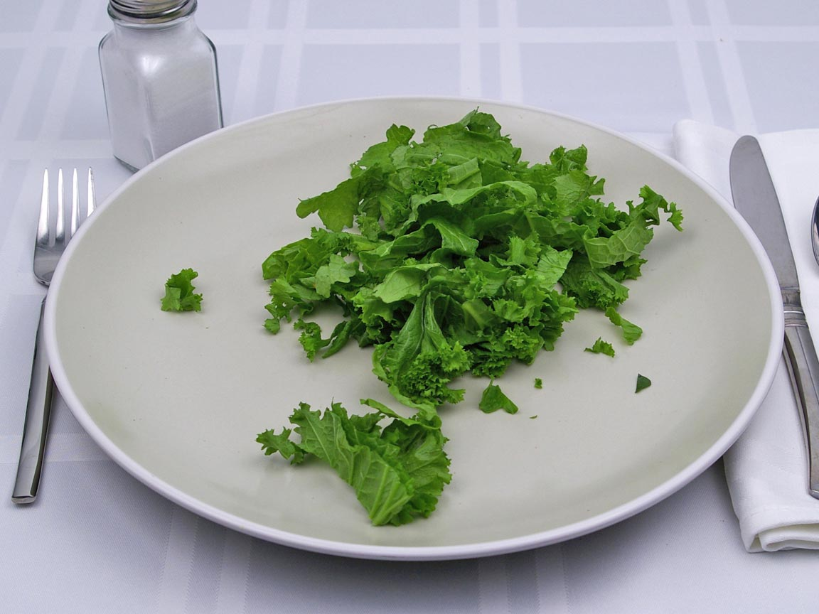 Calories in 1 cup(s) of Mustard Greens - Raw