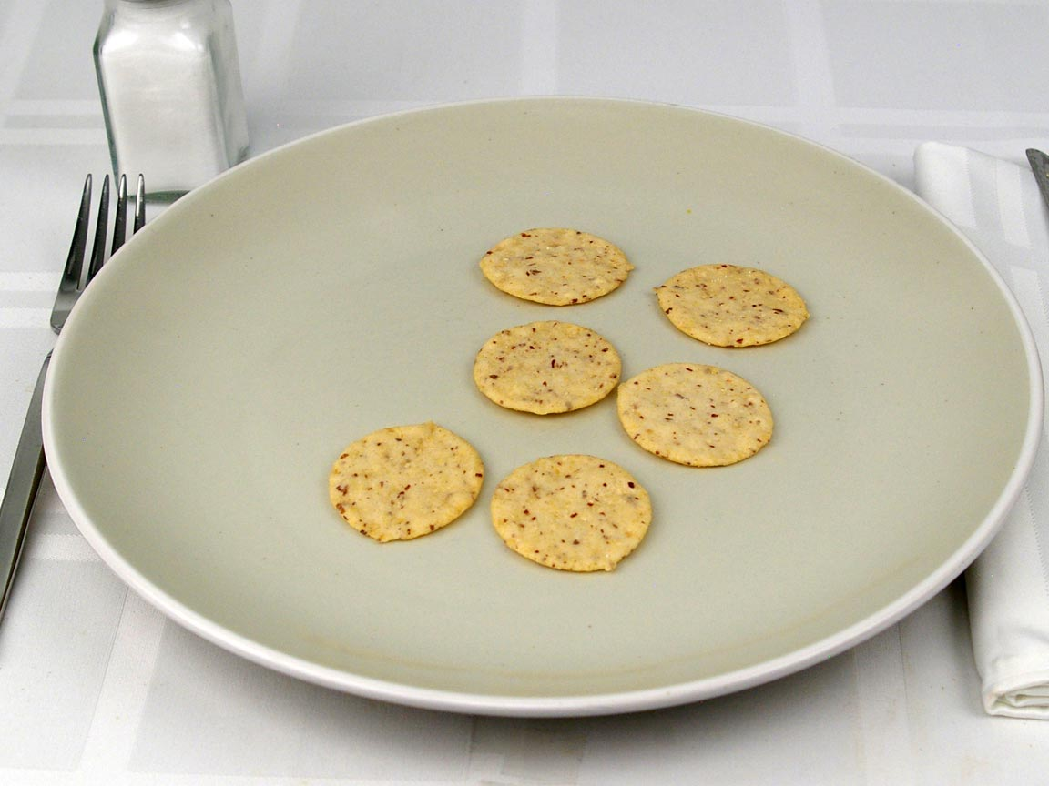 Calories in 6 cracker(s) of Almond Nut Thins - Nut & Rice Crackers