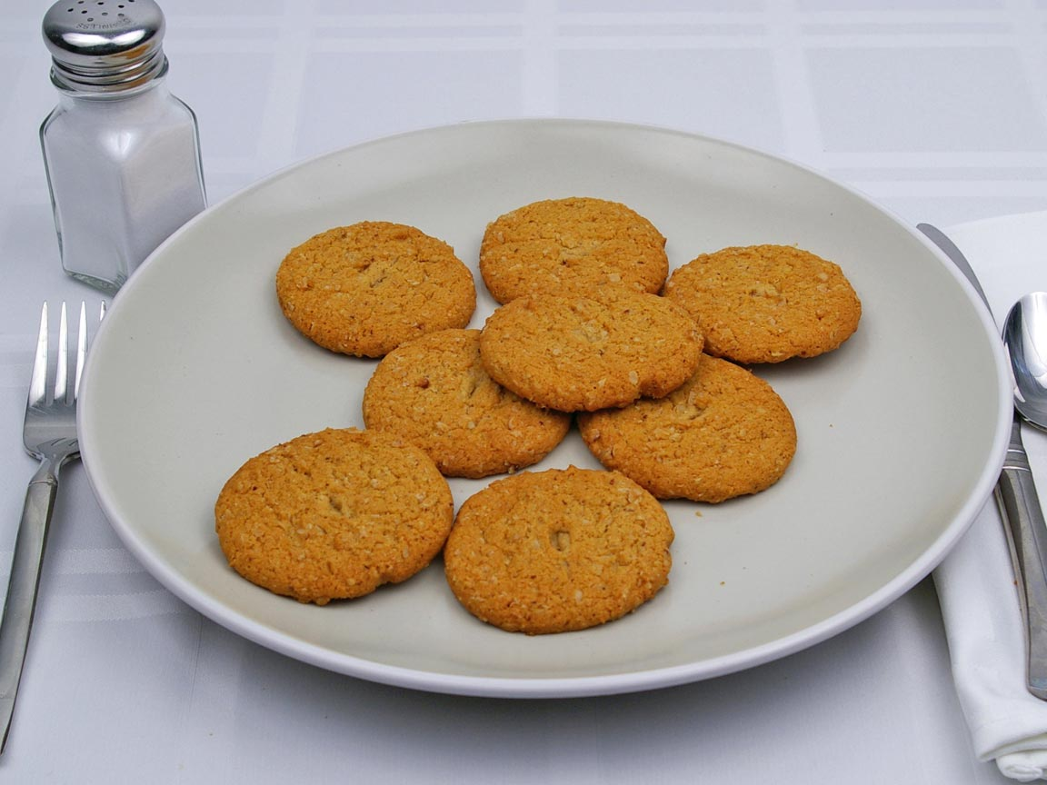 Calories in 8 cookie(s) of Oatmeal Cookie - Sugar Free