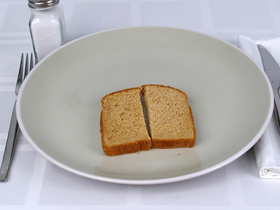 Calories in 1 piece(s) of Oroweat Steel Cut Oats & Honey Bread