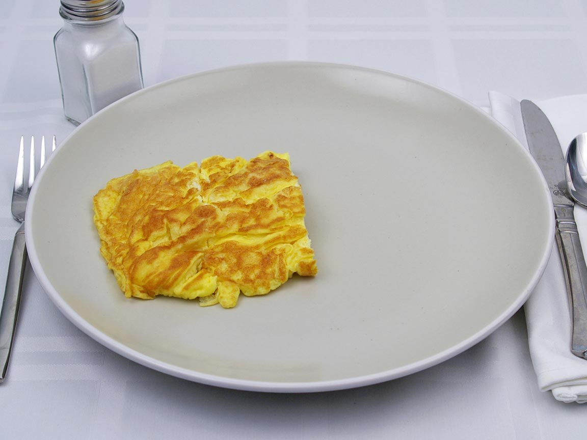 Calories in 0.5 piece(s) of Egg Omelette - No Fat Added
