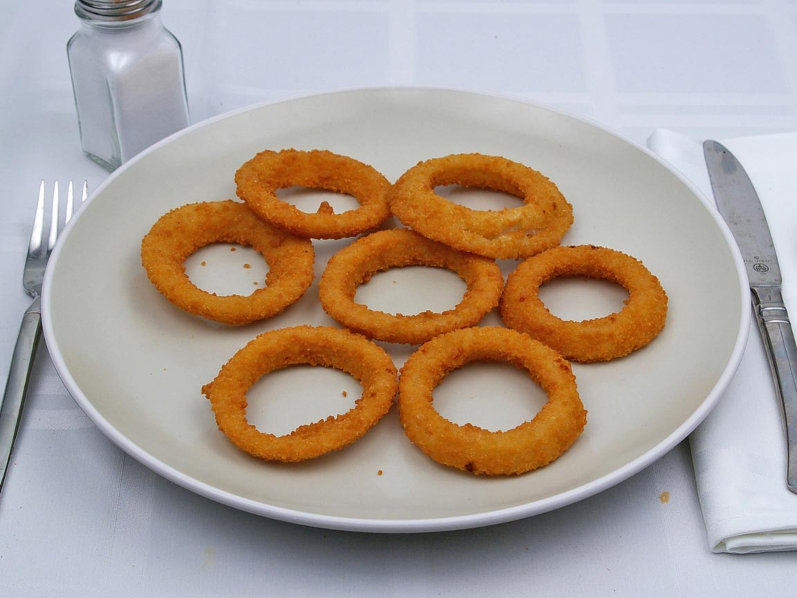 Calories in 0.88 serving(s) of Carl's Jr - Onion Rings