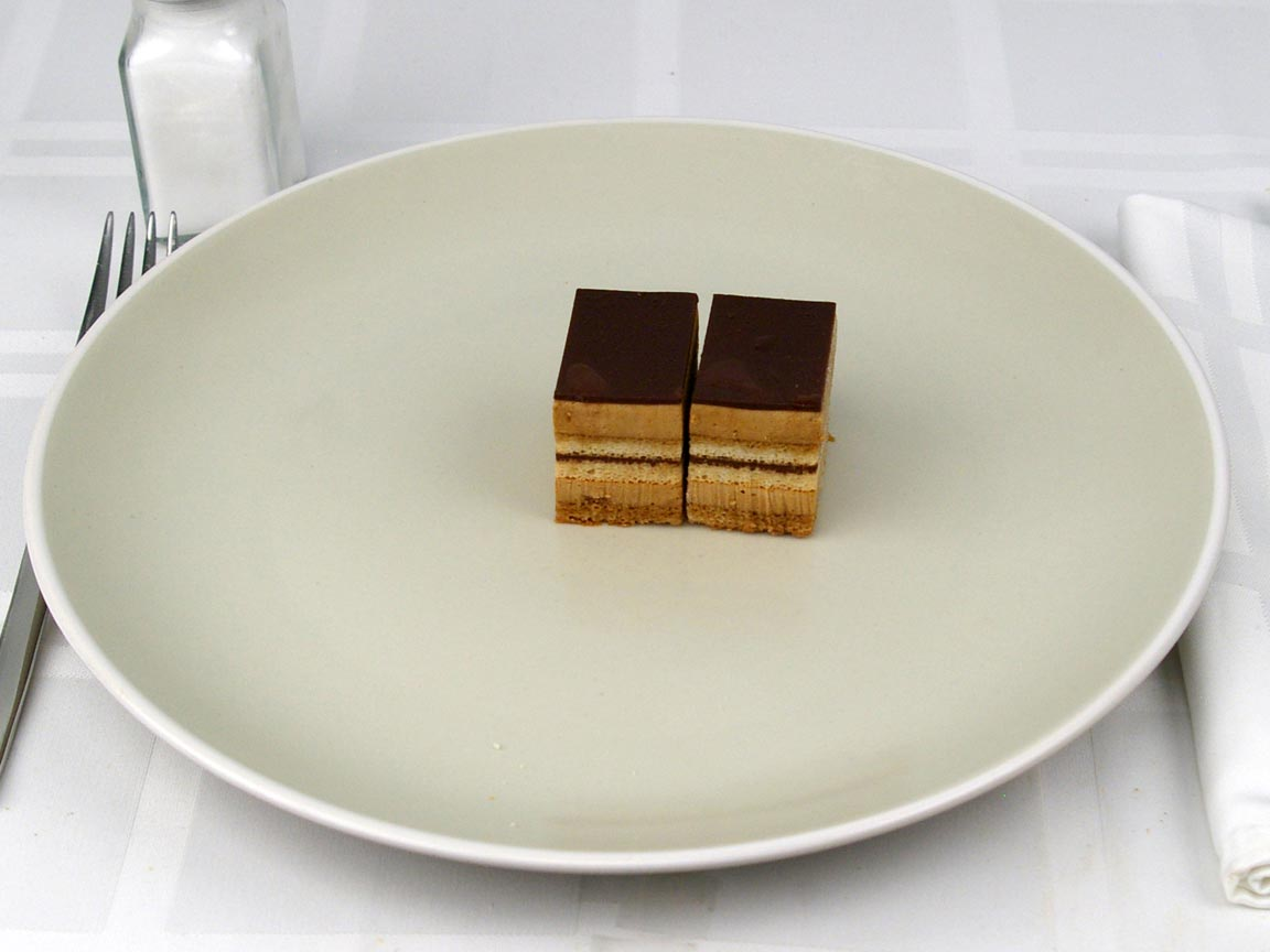 Calories in 2 piece(s) of Opera Cake