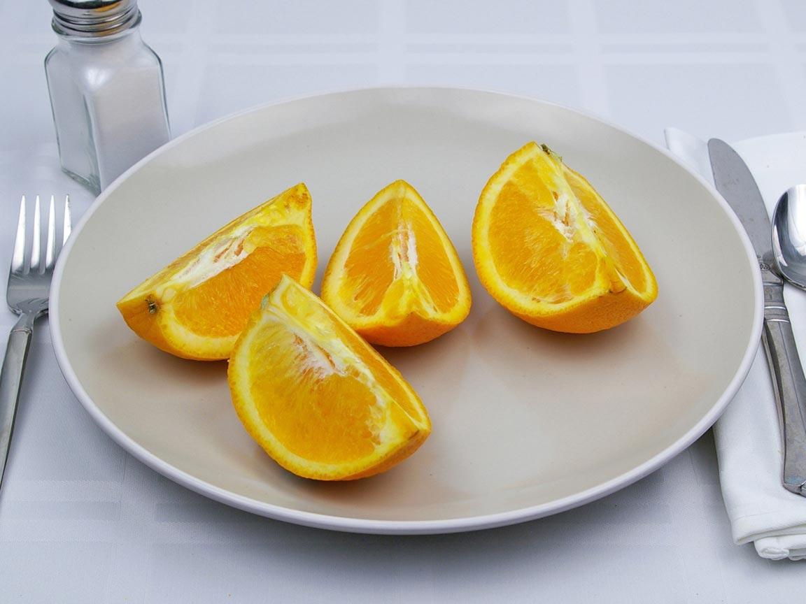 Calories in 1 orange(s) of Orange