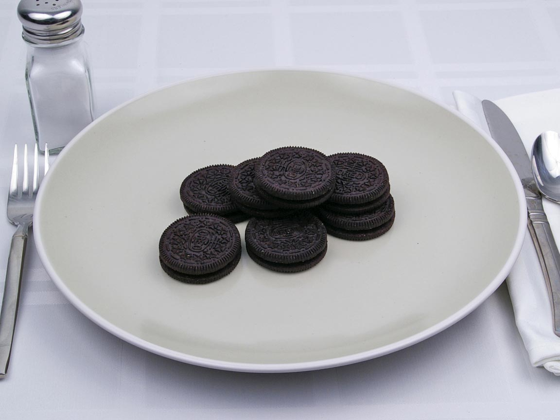 Calories in 8 cookie(s) of Oreo Cookie - Reduced Fat