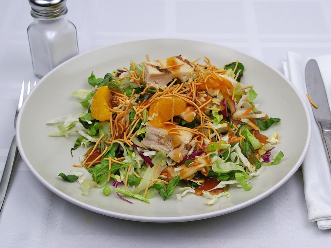 Calories in 0.5 salad(s) of Asian Chicken Salad - With Dressing