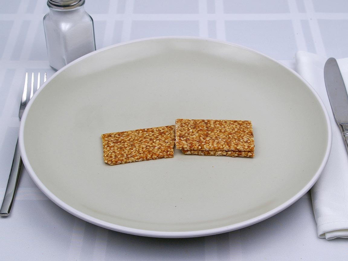 Calories in 0.5 bar(s) of Oskri - Quinoa Bar