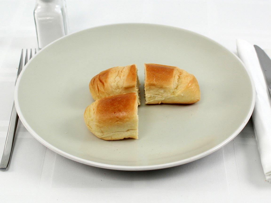 Calories in 1.5 roll(s) of Sweet Milk Rolls