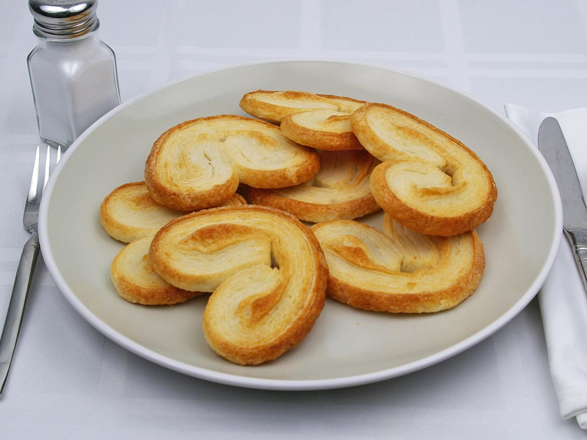 Calories in 7 cookie(s) of Palmier Cookie
