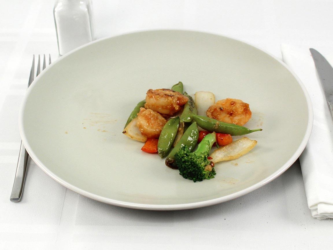 Calories in 85 grams of Panda Express Shrimp Stir Fry