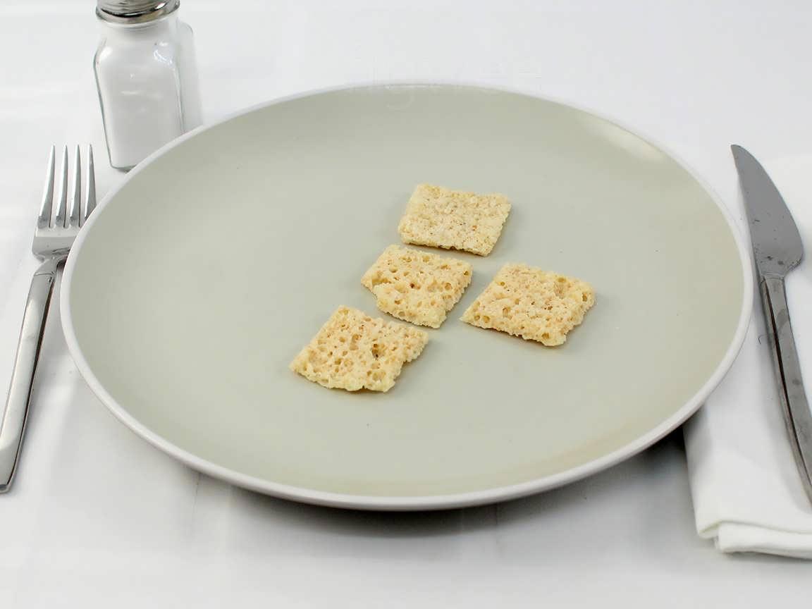 Calories in 16 grams of Parmesan Cheese Crisps