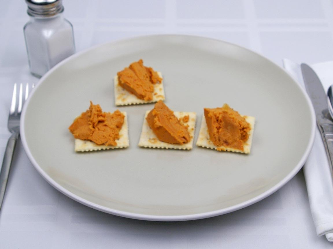 Calories in 4 Tbsp(s) of Pate - Salmon