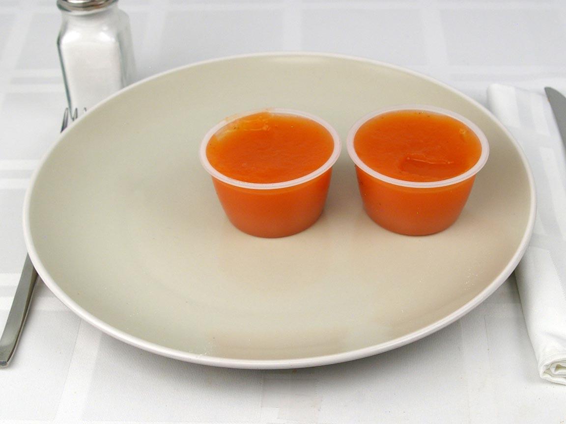 Calories in 2 container(s) of Peach Mango Applesauce