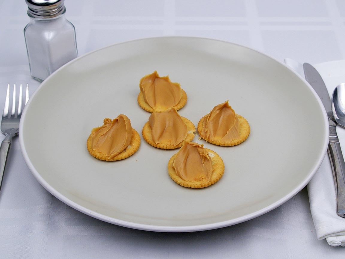 Calories in 2.5 Tbsp(s) of Peanut Butter - Creamy - (Just Peanut Butter)
