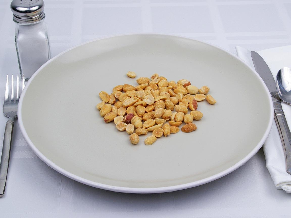 Calories in 45 grams of Peanuts - Dry Roast - Salt