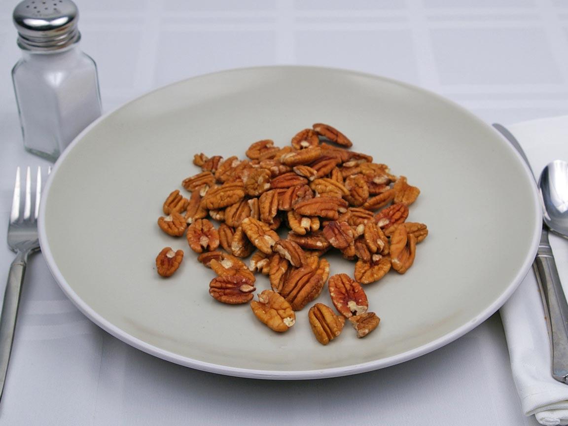 Calories in 85 grams of Pecans - Dry Roasted - Salt