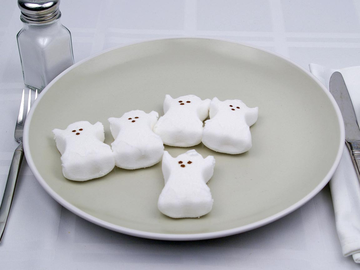 Calories in 5 peep(s) of Peep Marshmallow