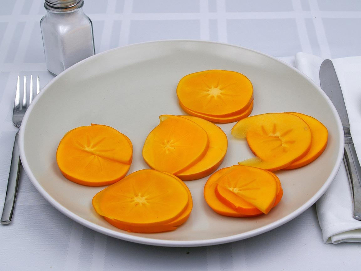 Calories in 170 grams of Persimmons